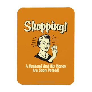 Shopping: Husband and His Money Rectangular Photo Magnet