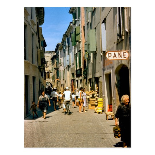 Shopping in Como Postcard