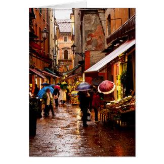 Shopping in the Rain Card