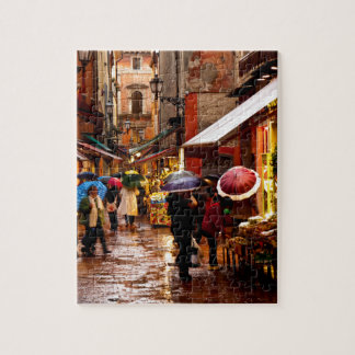 Shopping in the Rain Jigsaw Puzzle