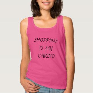 SHOPPING IS MY CARDIO SINGLET