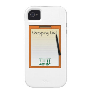 Shopping List iPhone 4 Case