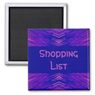 Shopping List Holder Square Magnet