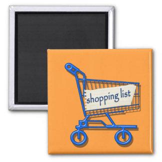 shopping list magnet