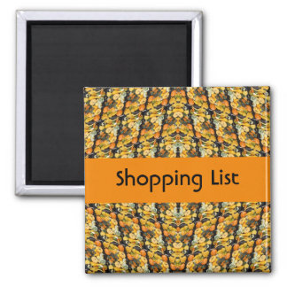 Shopping List Square Magnet
