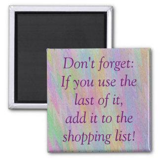 Shopping List Square Magnet