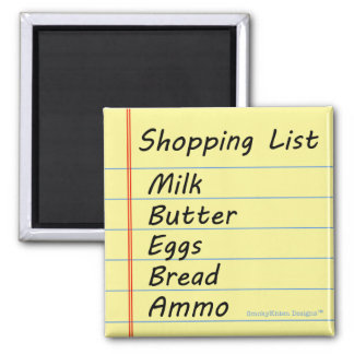 Shopping List - The Essentials Square Magnet