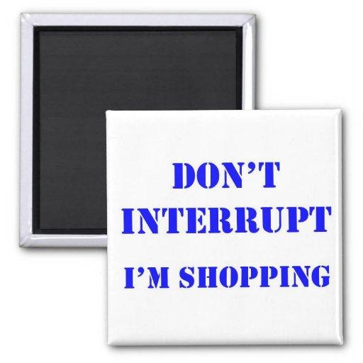 Shopping Fridge Magnet