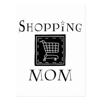 Shopping Mom Post Cards