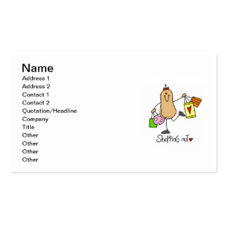 Shopping Nut T-shirts and Gifts Pack Of Standard Business Cards