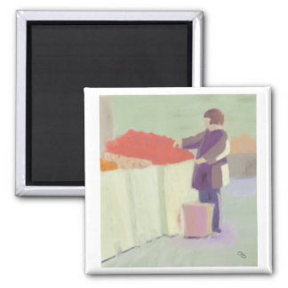 Shopping Outdoor Market Square Magnet