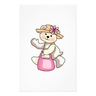 Shopping Teddy Bear Custom Stationery