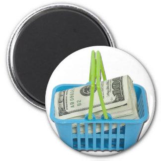 ShoppingBasketFullCash101311 6 Cm Round Magnet
