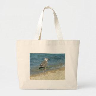 Shore bird jumbo tote bag