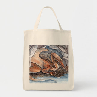 Shore Dragon Grocery Tote Bag