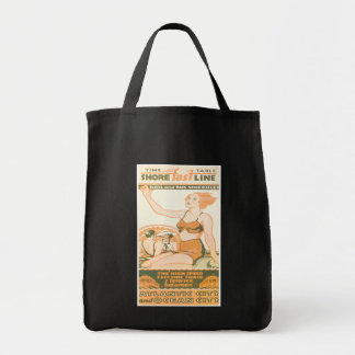 Shore Fast Line Timetable Grocery Tote Bag