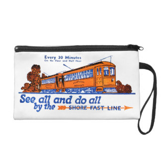 Shore Fast Line Trolley Service Wristlet Purses