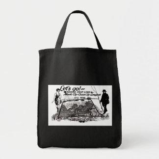Shore Fast Line Trolleys 1910 Vintage Tote Bags