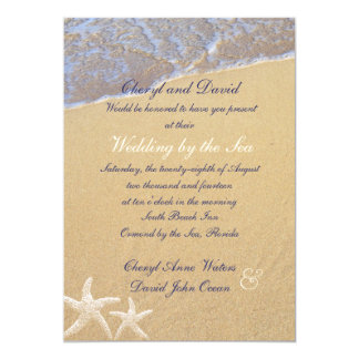 Shore Love Beach Themed Custom Wedding Invitations