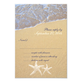 Shore Love Beach Themed Wedding RSVP Cards 9 Cm X 13 Cm Invitation Card