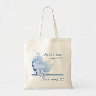 Shore Love Beach Umbrella Blue Budget Tote Bag