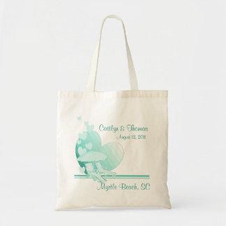 Shore Love/ Green Budget Tote Bag