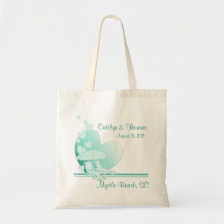 Shore Love/ Green Budget Tote Bag