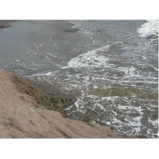 Shore Of Brown Rock And Sand Cut Out