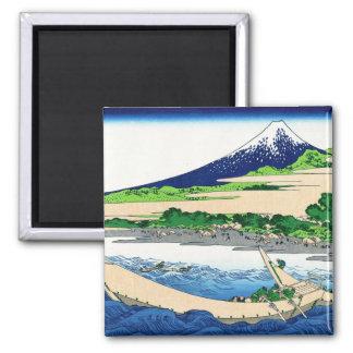 Shore of Tago Bay, Ejiri at Tokaido Hokusai Fuji Square Magnet