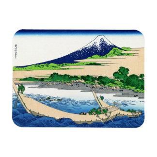 Shore of Tago Bay, Ejiri at Tokaido Hokusai Fuji Rectangular Photo Magnet