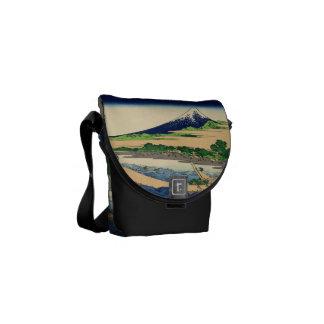 Shore of Tago Bay  Ejiri at Tokaido Messenger Bags