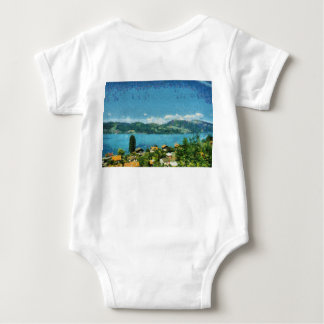 Shore of the lake baby bodysuit