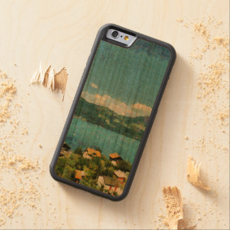 Shore of the lake carved cherry iPhone 6 bumper case