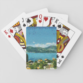 Shore of the lake playing cards
