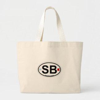 SHORE OVAL ba Large Tote Bag