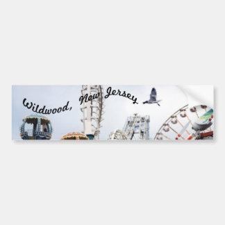 Shore Pier-Wildwood Text Bumper Sticker