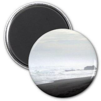 Shore Rocks 6 Cm Round Magnet