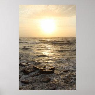 Shoreline Sunrise Poster
