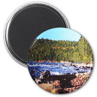 Shores of Superior 6 Cm Round Magnet