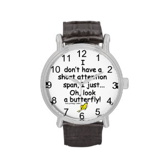 Short Attention Span Butterfly Wrist Watches