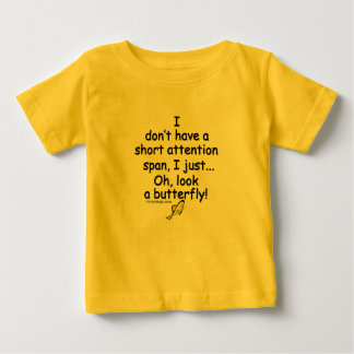 Short Attention Span Butterfly Humor T-shirts