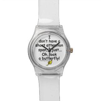 Short Attention Span Butterfly Wrist Watch