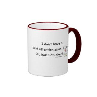 Short Attention Span Chicken Coffee Mugs