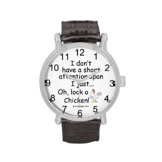 Short Attention Span Chicken Wristwatch