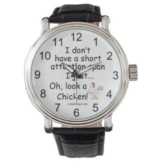 Short Attention Span Chicken Wrist Watches