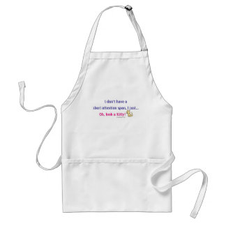 Short Attention Span Kitty Humor Standard Apron