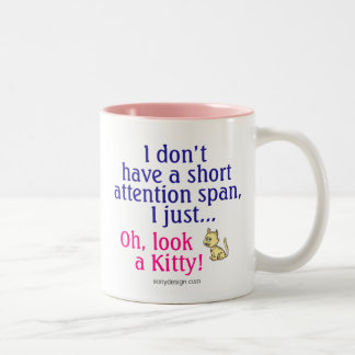 Short Attention Span Kitty Mugs