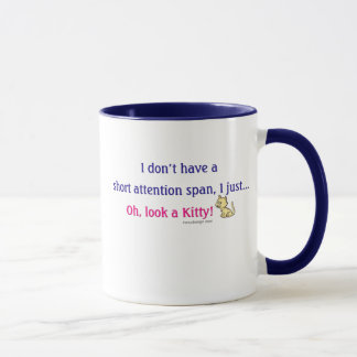 Short Attention Span Kitty Mug