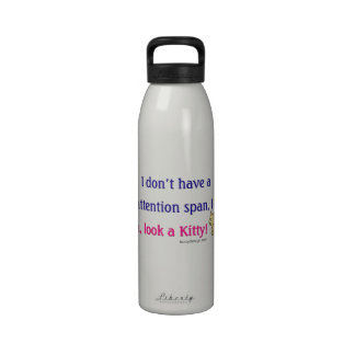 Short Attention Span Kitty Water Bottles