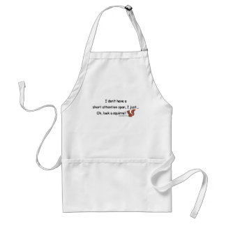 Short Attention Span Squirrel Adult Apron